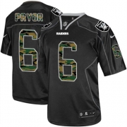 Men's Nike Oakland Raiders 6 Terrelle Pryor Elite Black Camo Fashion NFL Jersey