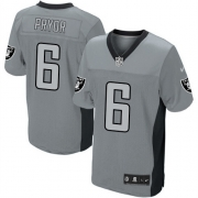 Men's Nike Oakland Raiders 6 Terrelle Pryor Elite Grey Shadow NFL Jersey