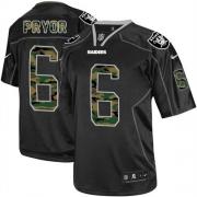 Men's Nike Oakland Raiders 6 Terrelle Pryor Limited Black Camo Fashion NFL Jersey