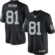Men's Nike Oakland Raiders 81 Tim Brown Limited Black Team Color NFL Jersey