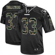 Men's Nike Oakland Raiders 33 Tyvon Branch Elite Black Camo Fashion NFL Jersey