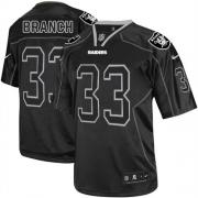 Men's Nike Oakland Raiders 33 Tyvon Branch Elite Lights Out Black NFL Jersey