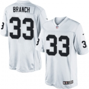 Men's Nike Oakland Raiders 33 Tyvon Branch Limited White NFL Jersey
