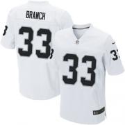 Men's Nike Oakland Raiders 33 Tyvon Branch Elite White NFL Jersey