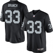 Men's Nike Oakland Raiders 33 Tyvon Branch Limited Black Team Color NFL Jersey