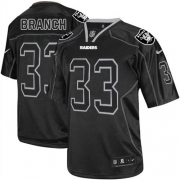 Men's Nike Oakland Raiders 33 Tyvon Branch Limited Lights Out Black NFL Jersey