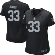Women's Nike Oakland Raiders 33 Tyvon Branch Game Black Team Color NFL Jersey
