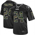 Men's Nike Oakland Raiders 24 Willie Brown Limited Black Camo Fashion NFL Jersey